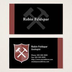 Business card magnet with flag of corpus christi corpus christi geologist crossed rock hammer shield business card colourmoves
