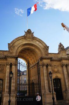 Palais de l Elysee. More on Champs Elysees Paris at http://www.ChampsElysees-Paris.com