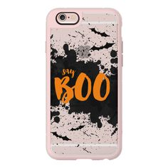 iPhone 6 Plus/6/5/5s/5c Case - Say Boo (€37) ❤ liked on Polyvore featuring accessories, tech accessories, phone case, iphone case, apple iphone cases, iphone cover case y iphone hard case
