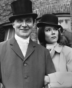 Mrs. Emma Peel and John Steed