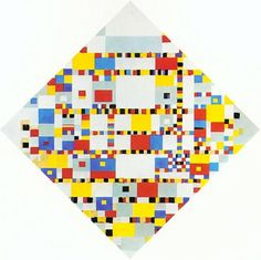 """Piet Mondrian (1872–1944). Victory Boogie Woogie, 1944. """"Three days before he was taken to the hospital he had begun a drastic revision of his latest painting which was practically ready for exhibition and to which he had already given more than nine months constant work."""" –Art Chronicle, 1944 - http://endpiece.tumblr.com"""