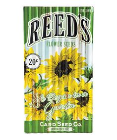 Look what I found on #zulily! Metal 'Life Began in a Garden' Seed Pack Sign #zulilyfinds