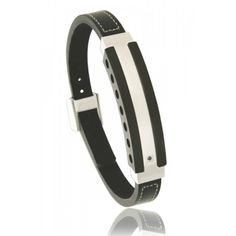 Men stainless steel Séisme black bracelets - Bijoux Paris