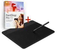 Wacom Intuos Art Pen & Touch M Grafiktabl. CTH-690AK-S + PaintShop Pro X8 (CD only)