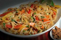 Pad Thai Noodle Salad -   Spice up your picnic with this cold salad and A Taste of Thai Pad Thai Sauce.