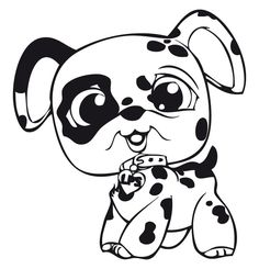 littlest pet shop spotted dog coloring pages for kids printable littlest pet shop coloring pages for kids - Littlest Pet Shop Coloring Pages Dog