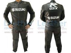 Suzuki Leather Racing Suit  https://www.leathercollection.com/en-we/suzuki-leather-racing-suit.html  #Suzuki_Clothing, #Suzuki_Leather_Racing_Suit, #Suzuki_Racing