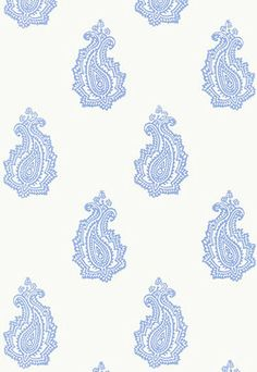 5005302 Schumacher Wallpaper pattern name Madras Paisley. Mahones Wallpaper Shop only sells quality no second hand materials with full manufacturer guarantee. Paisley Wallpaper, Botanical Wallpaper, Embossed Wallpaper, Fabric Wallpaper, Wallpaper Roll, Pattern Wallpaper, Textiles, Textile Patterns, Print Patterns