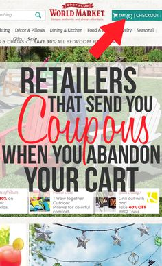 Retailers That Send You Coupons When You Abandon Your Cart