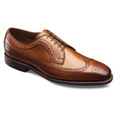 Factory 2nd - Larchmont Wingtips, 1553S Walnut Burnished Calf