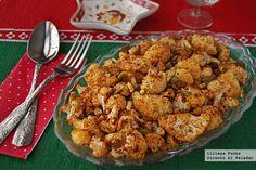 Coliflor asada al pimentón con frutos secos. Receta de Navidad