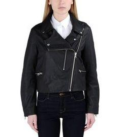 ShopBazaar Mcq Alexander Mcqueen Black Leather Jacket FRONT