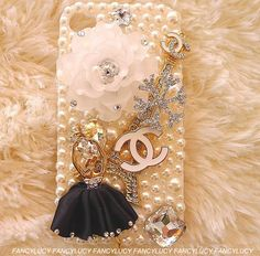 chanel iphone 4s case iphone 4 case iphone with white flowers and ballerina! by iPhoneCasesFancylucy, $22.98
