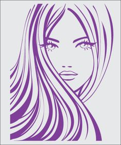 Illustration about Beautiful yoing girl with long hair. Illustration of hairdresser, coiffure, girl - 17092134 Silhouette Art, Woman Silhouette, Illustration Girl, Woman Face, Girl Face, Face Art, Line Drawing, Vector Art, Hair Vector