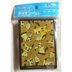 Pokemon Center 2017 Mimikyu Pikachu Set Of 64 Deck Sleeves