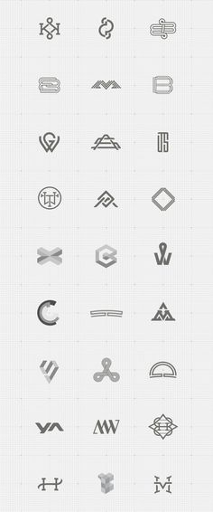 Monograms and Logotypes by Freelance Graphic Designer Jonas Söder