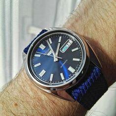 Seiko snxs77 blue perlon