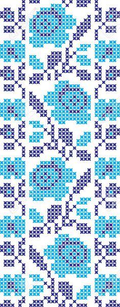 embroidered cross-stitch ornament of national pattern Ukrainian Slavic Illustration , Cross Stitching, Cross Stitch Embroidery, Embroidery Patterns, Cross Stitch Patterns, Cross Stitch Rose, Cross Stitch Flowers, Loom Patterns, Crochet Patterns, Tapestry Crochet