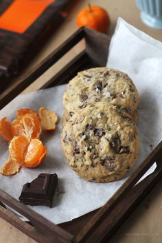 Orange & Triple Chocolate Chunk Cookies