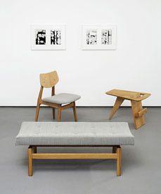 Jens Risom furniture at Rocket Gallery, London
