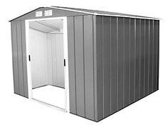 Duramax 60151 8 x 8 ft Eco Metal Shed - Grey