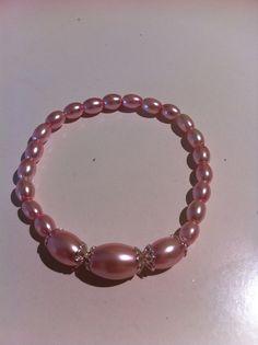 Bracelet rose perles