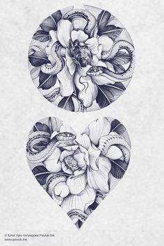 Floral Mandala Tattoo, Floral Tattoo Design, Flower Tattoo Designs, Flower Tattoos, Leopard Tattoos, Animal Tattoos, Body Art Tattoos, Sleeve Tattoos, Butterfly With Flowers Tattoo