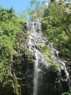 Small waterfalls along the highway at Isabela City, Basilan (Philippines)