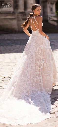 Littea 2019 Blue Mountain Bridal Collection features drop-dead gorgeous silhouettes and wedding dresses that are a perfect fit for the modern bride. Short Wedding Gowns, A Line Bridal Gowns, Lace Ball Gowns, Blue Wedding Dresses, Princess Wedding Dresses, Bridal Dresses, How To Dress For A Wedding, Gorgeous Wedding Dress, Beautiful Gowns