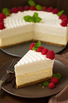 Vanilla Bean Cheesecake with White Chocolate Mousse (Cheesecake Factory Copycat) | Cooking Classy