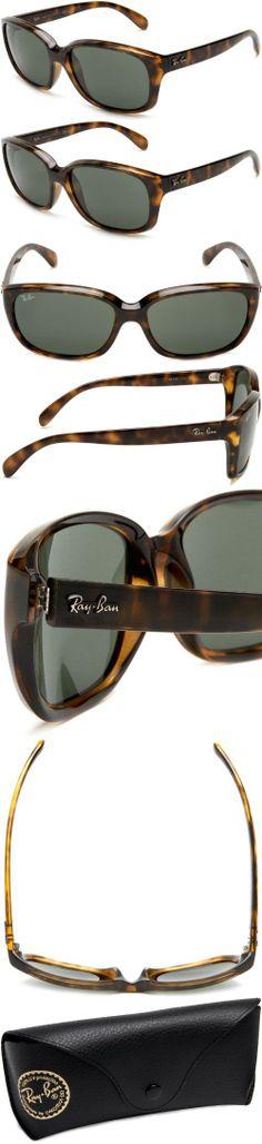 Ray-Ban Women's RB4161 710 Square Sunglasses,Lite Havana Frame/Green Lens,59 mm, 18$ only!
