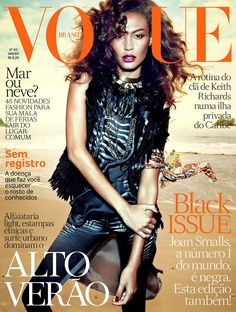 Cover: Joan Smalls by Henrique Gendre for Vogue Brasil January 2013