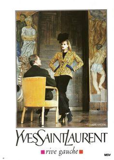 1994 - YSL Rive Gauche adv - Karen Mulder by Helmut Newton