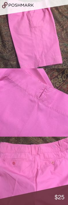 Lily Pulitzer Pink Shorts sz 2 Lily Pulitzer hot pink shorts sz 2 in excellent condition worn maybe 3 times. 100% Cotton. Front pockets and back button pockets. 30 waist and length from waist to bottom 17 1/2 inches. Very nice!! Lilly Pulitzer Shorts