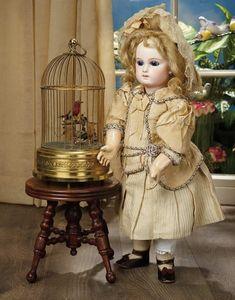 Sanctuary: A Marquis Cataloged Auction of Antique Dolls - March 19, 2016: French Bisque Portrait Bebe by Emile Jumeau, Couturier Costume and Jumeau Shoes