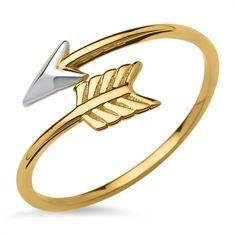 Ring im Pfeil-Design 333er Gold GR0085 http://www.thejewellershop.com/ #ring #pfeil #gold #333er #unique #thejeweller