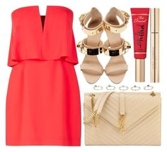 """""""street style"""" by sisaez ❤ liked on Polyvore featuring BCBGMAXAZRIA, Giuseppe Zanotti, Too Faced Cosmetics, Dorothy Perkins, Yves Saint Laurent and Dolce&Gabbana"""
