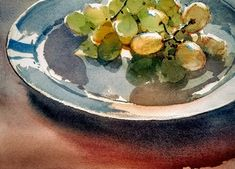 Yong Hong Zhong,      Green grapes on a plate.