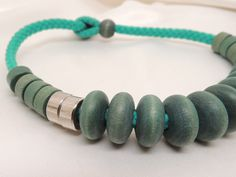 Vintage Green Wooden Choker by DesignsbyAlladania on Etsy, $8.00