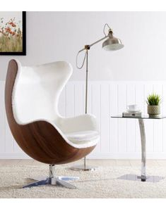 Charles Eames, Dining Arm Chair, Living Room Chairs, Swivel Rocker Chair, Eames Style Lounge Chair, Leather Lounge, Lounge Seating, Egg Chair, Chairs