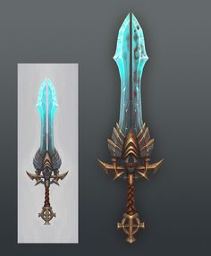 handpainted sword, Peter Guo on ArtStation at http://www.artstation.com/artwork/handpainted-sword-41be7be3-ef20-4589-a0bd-9a9389681413