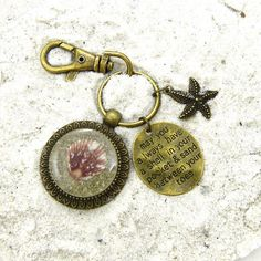 Seashell Keychain / Purse Charm / Zipper by FloridaShellGirlShop