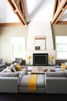 like the chairs and yellow and grey sitting room