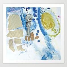 Oliver kept talking about his kidneys Art Print by Deb Haugen - $18.00
