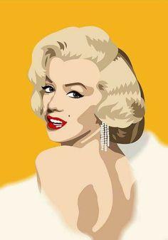 Pop Art Marilyn Monroe Illustrations Portraits New Ideas Marilyn Monroe Dibujo, Marilyn Monroe Drawing, Marilyn Monroe Painting, Marilyn Monroe Photos, Marylin Monroe, Arte Pop, Pop Art Marilyn, Pop Art Images, Norma Jeane