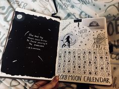 2018 Moon calendar bullet journal