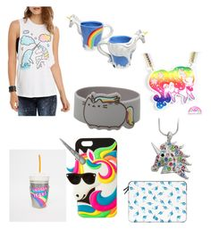 Of Unicorns and Sea Unicorns by mintynoelle on Polyvore featuring polyvore, fashion, style, Skinnydip, claire's and Casetify