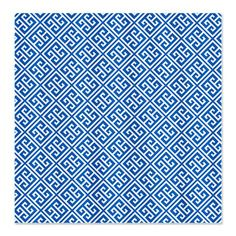 Colbalt Blue Greek Key Shower Curtain