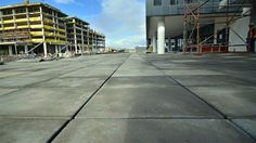 Revelstone's Jura straight edge precast concrete pavers clearly showing the straight jointing as specified by the architects.