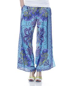 Another great find on #zulily! Sky Blue Palazzo Pants by Classique #zulilyfinds